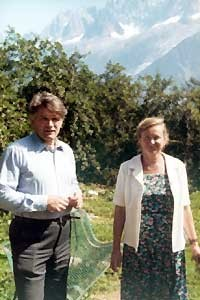 Л.Д.Фаддеев с женой на отдыхе